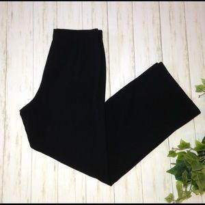 St John Black Wide Leg Trouser Pant Size 8 Office